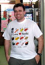 お寿司好きな外国人は大喜び!I Love Sushi T-shirt