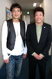 俳優 金田賢一さんと京都シルク社長 木村和雅